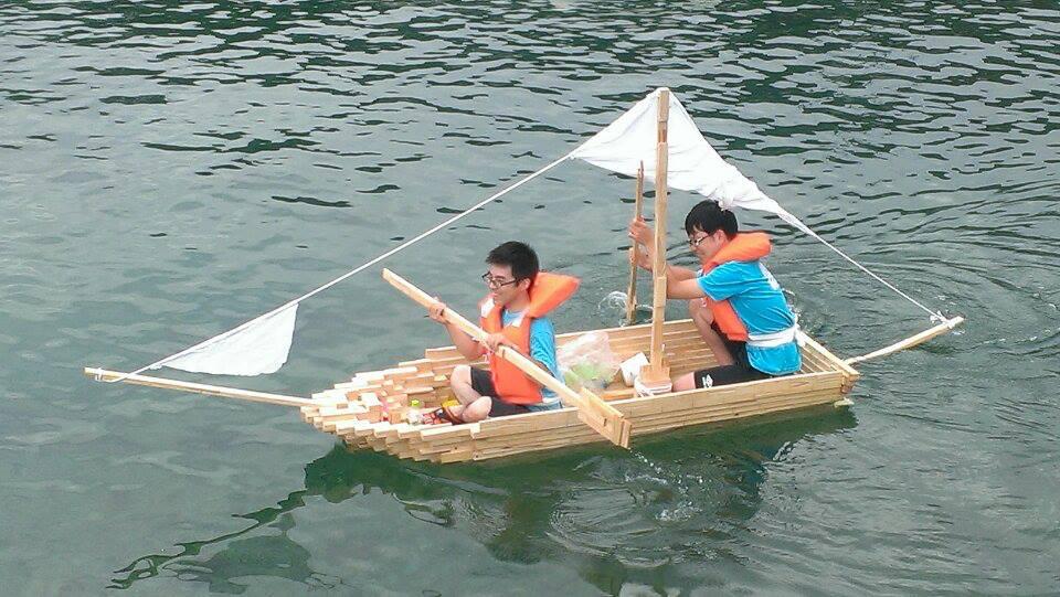 島を目指す打瀬舟