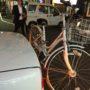 街でお酒を飲む寒い夜は、自転車タクシーが便利です!